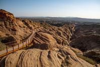 中国 黄土高原の波浪谷 アンテローブ