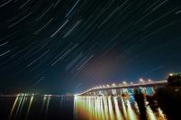 滋賀県 夜の琵琶湖大橋