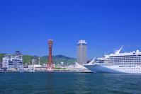兵庫県 ポートタワーと大型客船
