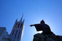 長崎県 新上五島町 桐教会 銅像