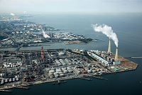 千葉県 五井火力発電所と京葉工業地帯