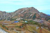 富山県 雄山山頂より立山室堂と奥大日岳