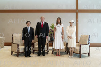 トランプ米大統領が来日 天皇皇后両陛下が国際親善