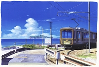 神奈川県 七里ヶ浜 江ノ電