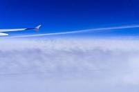 機中より雲 成田~フランクフルト LH-0711