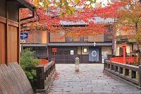 京都府 秋の祇園 巽橋