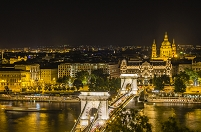 ハンガリー ブダペストの夜景
