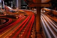 東京都 赤坂見附交差点の夜景