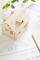 設計図とログハウス