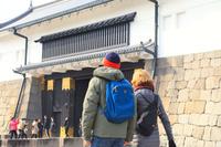 京都府 市内観光をする外国人観光客