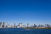 東京都 レインボーブリッジから見た豊洲・晴海周辺