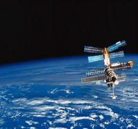 地球と宇宙ステーション