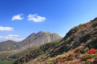 大分県九重町牧ノ戸峠より三俣山の秋