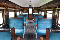 北海道 卯原内交通公園に静態保存されているオハ47客車の車内
