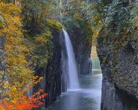 宮崎県 紅葉と高千穂真名井の滝