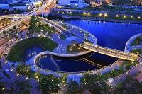 台湾 愛河之心の夜景 高雄市