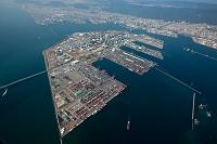 ポートアイランドと神戸港と神戸市街地