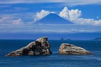 静岡県 雲見より望む富士山