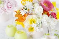 ポピーと花のアレンジメント