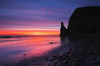 北海道 セタカムイ岩の朝