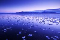 北海道 屈斜路湖の朝とフロストフラワー
