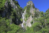 北海道 層雲峡の銀河の滝