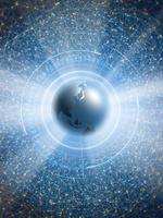 地球儀を取り囲む広大なネットワーク