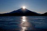 山梨県 山中湖村 山中湖 ダイヤモンド富士