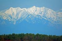 長野県 スカイパークから爺ケ岳左と鹿島槍ヶ岳右の山