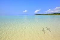 沖縄県 竹富島 コンドイビーチと青空