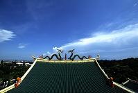 道教寺院の屋根飾り