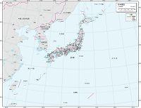 日本周辺 交通図