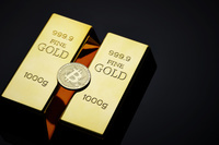 ビットコインと金塊