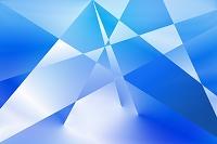 青い幾何学模様柄