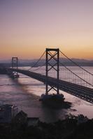 徳島県 大鳴門橋と鳴門海峡の朝