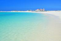 スペイン Sandy beach, El Cotillo, Fuerteventura, Canary isl...
