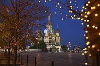 ロシア モスクワ 赤の広場と聖ワシリイ大聖堂