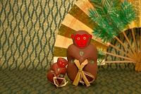 のごみ人形 猿の民芸品