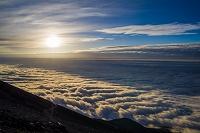 静岡県 富士山 富士宮ルート 9合目 日の出