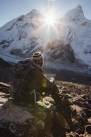 ネパール 登山者