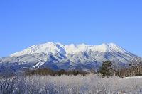長野県 開田高原 御嶽山の雪景色