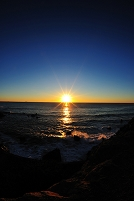 安乗の海からの朝陽