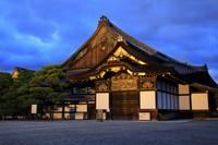 京都府 京の七夕 二条城 照明灯る国宝二の丸御殿