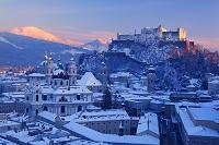 オーストリア 雪のザルツブルク