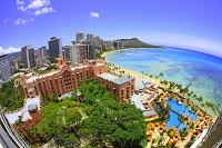 ハワイ ワイキキビーチ俯瞰