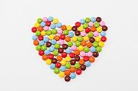 ハート形のマーブルチョコレート