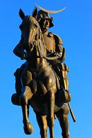 宮城県 朝の青葉山公園 伊達政宗騎馬像