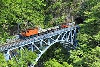 富山県 黒部峡谷鉄道トロッコ電車と後曳橋