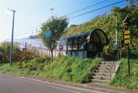 北海道 奥尻島 青苗地区の屋根付き避難路