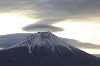 静岡県 猪之頭林道 富士山と笠雲